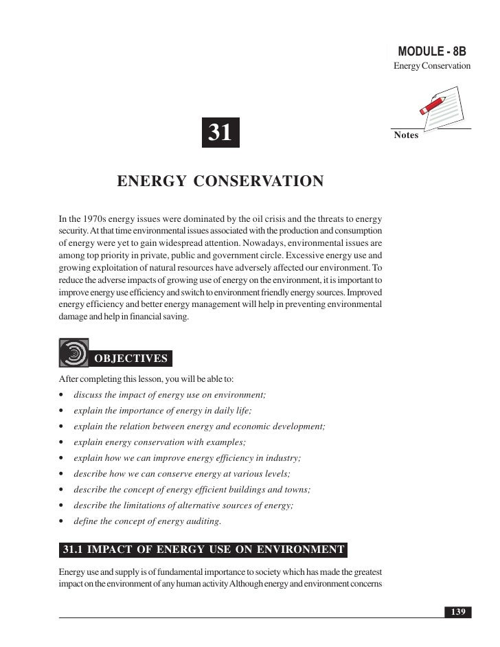 Energy Conservation: Lessons Save Money and Save the Environment