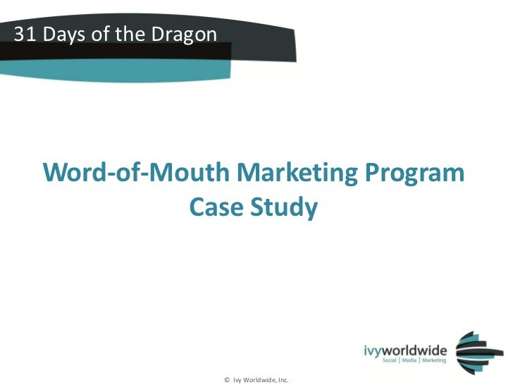Updated - HP 31 days of the Dragon Social Media Case Study