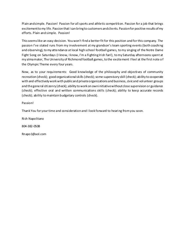 Sports Agent Resume Cover Letter - Contegri.com