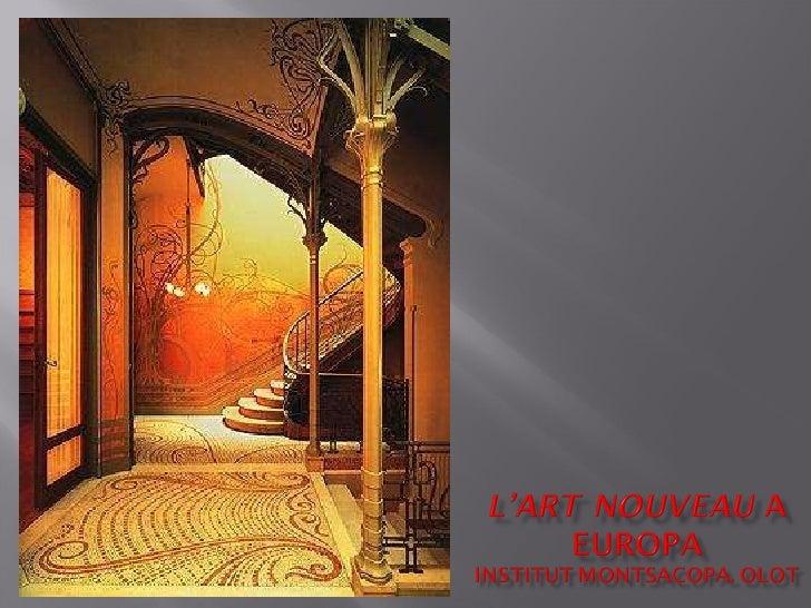 31e  l'art nouveau europeu