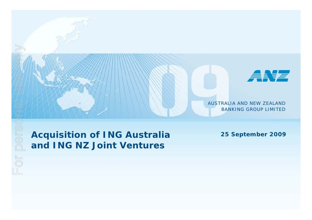 ANZ to buy ING Australia and NZ