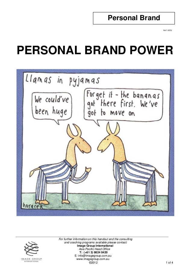 Personal Brand                                                                  Ref: 0051PERSONAL BRAND POWER     For furt...