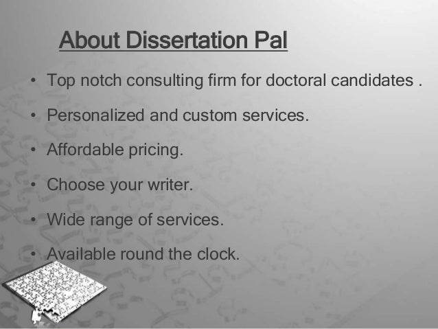 Dissertation Consulting Services Online