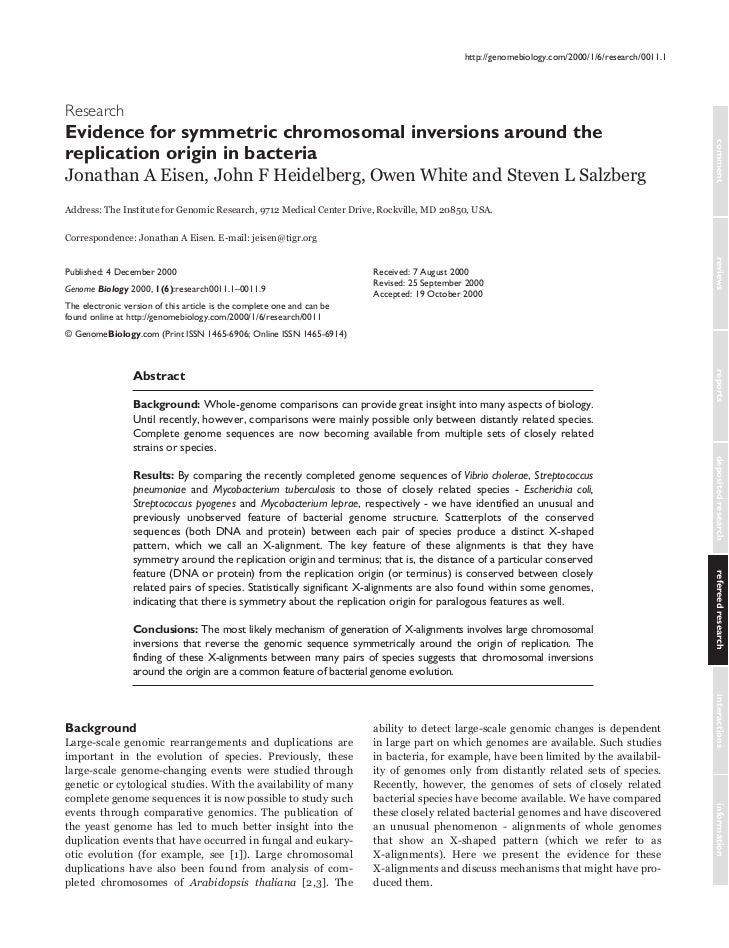 Evidence for symmetric chromosomal inversions around the replication origin in bacteria