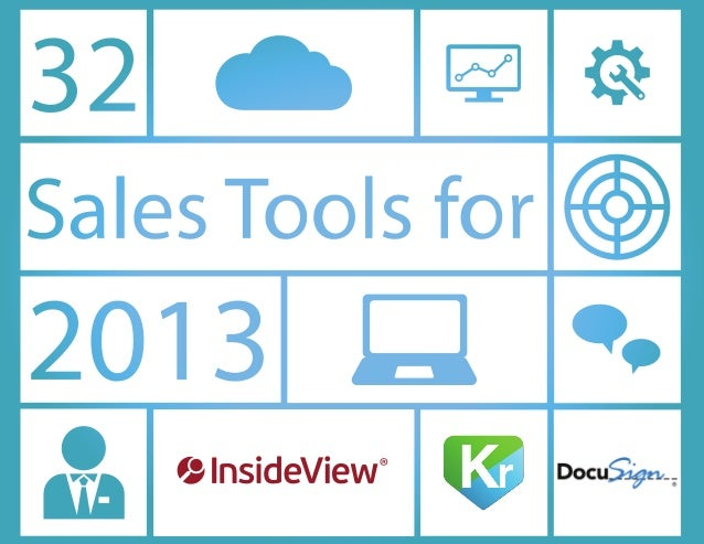 32 sales tools for 2013