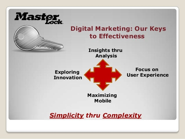 Digital Marketing: Our Keys            to Effectiveness              Insights thru                Analysis                ...
