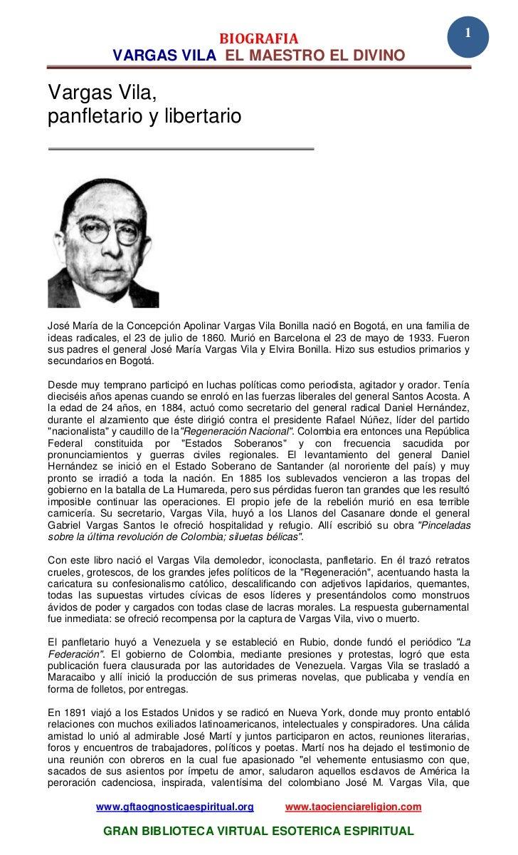 BIOGRAFIA                                                         1              VARGAS VILA EL MAESTRO EL DIVINOVargas Vi...