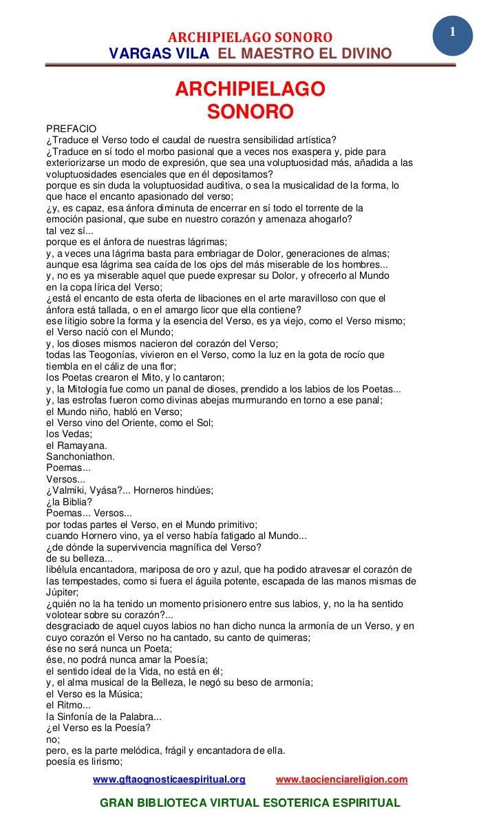 ARCHIPIELAGO SONORO                                                1              VARGAS VILA EL MAESTRO EL DIVINO        ...