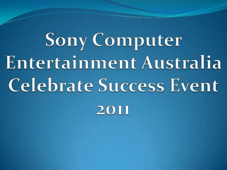 Sony Computer Entertainment Australia Celebrate Success Event 2011
