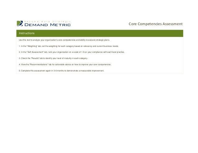 Core Competencies Assessment