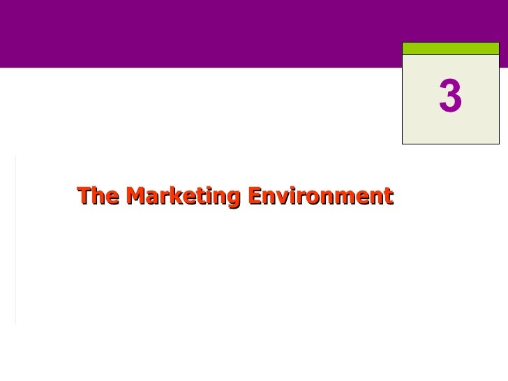 The Marketing Environment 3
