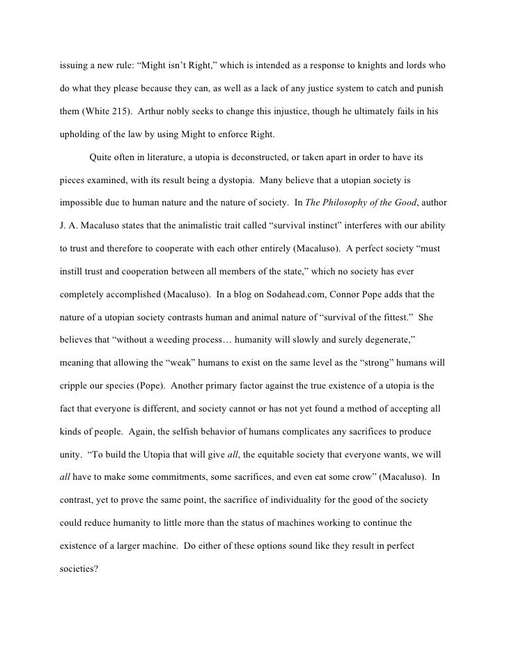 Dystopia Essay