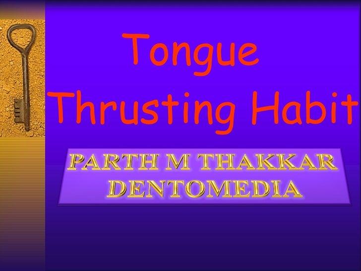 tongue-thrusting