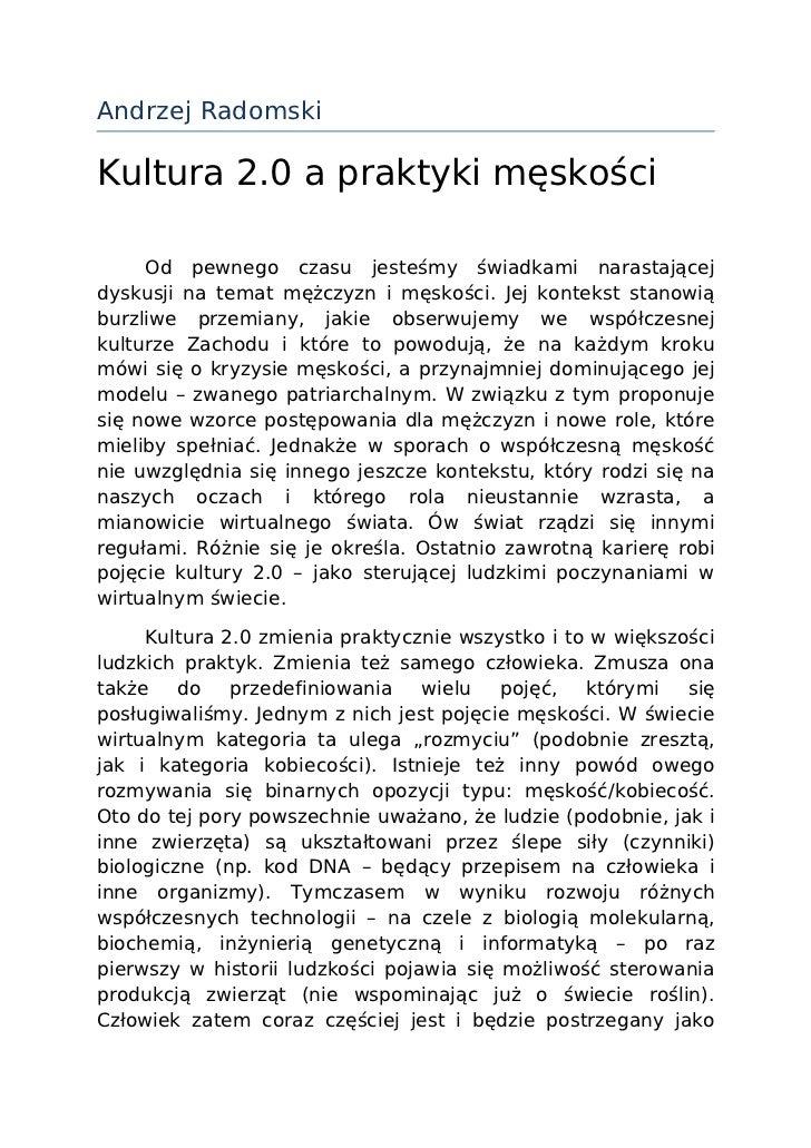 32448439 kultura-2-0-a-praktyki-męskości