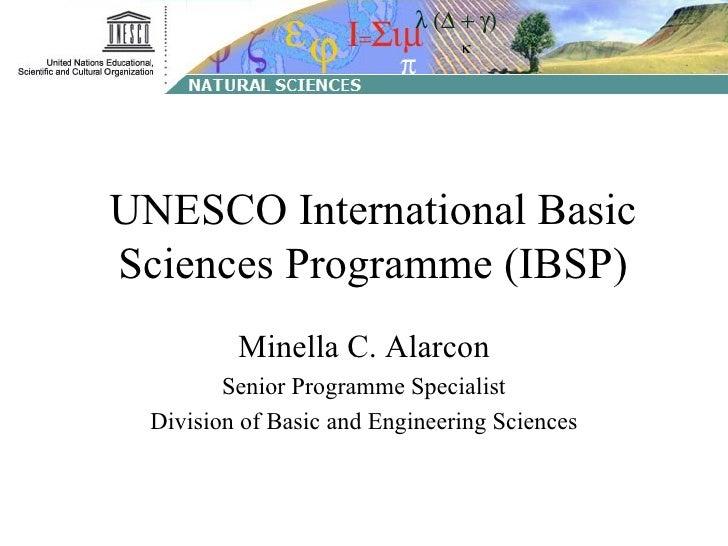 D02L05 M Alarkon - UNESCO IBSP
