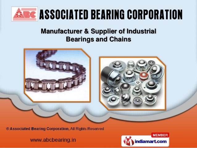 Manufacturer & Supplier of Industrial       Bearings and Chains
