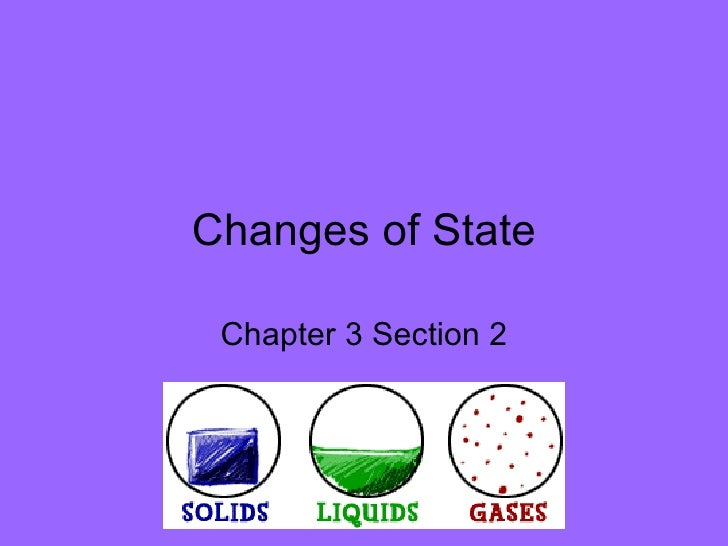 Changes of State Chapter 3 Section 2