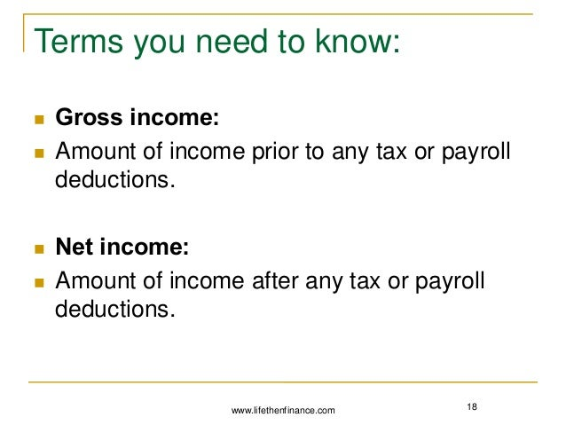 What is the difference between gross and net - Finances and ...
