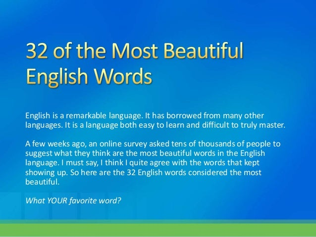 beautiful phrases for english essay The best of english essays title  it was bacon in this essay who wrote that for a person to be a success in the  a beautiful figure, a mellow tune,.