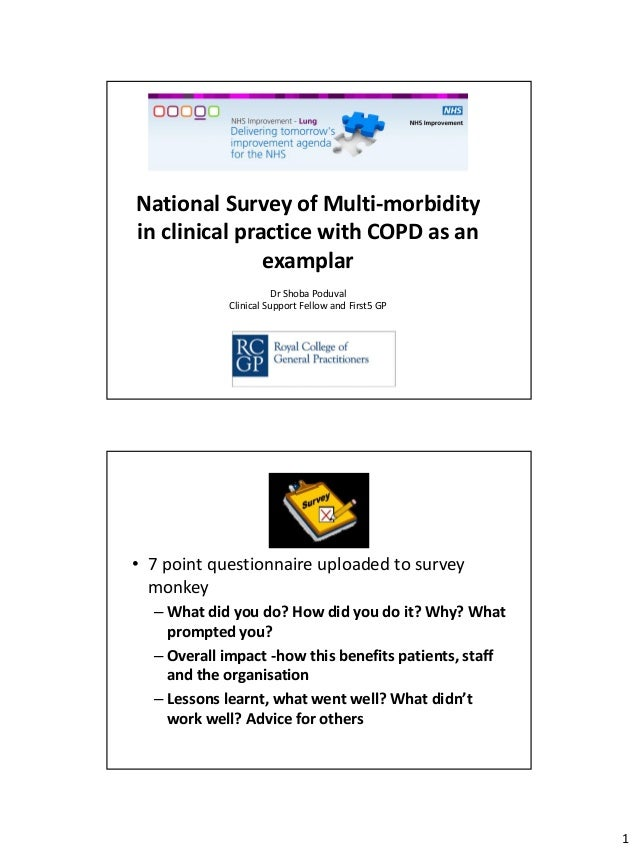 Breakout 3.2 National Survey of Multi-morbidity in clinical practice with COPD as an examplar -  Dr Shoba Poduval