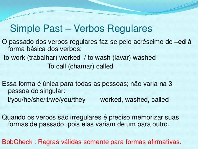 Simple past - verbos regulares
