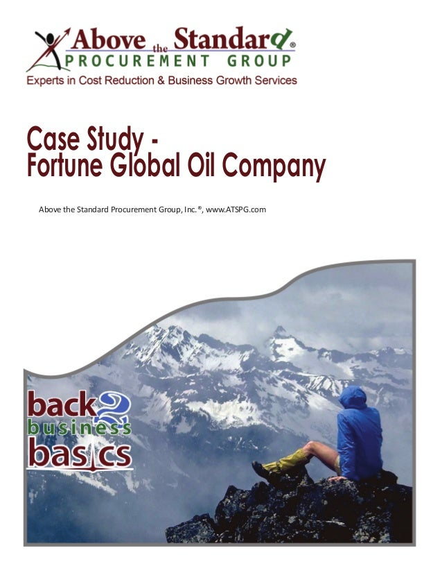 case study of oil company Case study on retail  case studies pulling the  the company wanted a more in-depth view of the competitive cell phone accessories category and .
