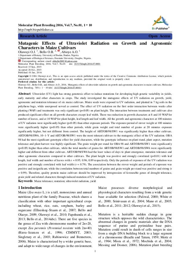 mutagenic effects of uv light essay Effects of uv irradiation on microorganisms i objectives  light is a form of energy that travels in rhythmic waves  to understand the mutagenic effects of uv.