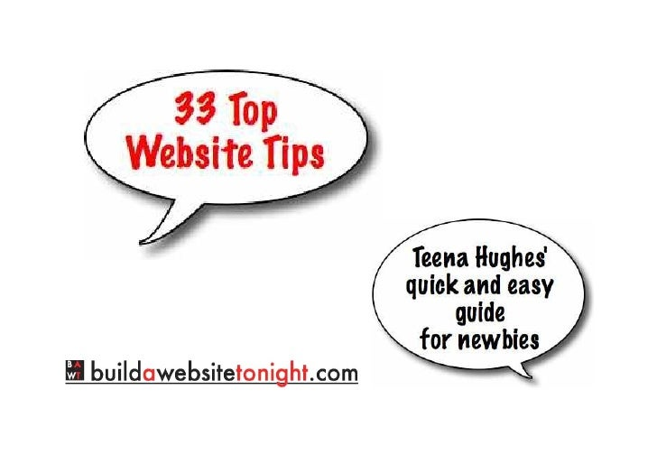 33 Top Website Tips from BuildAWebsiteTonight.com