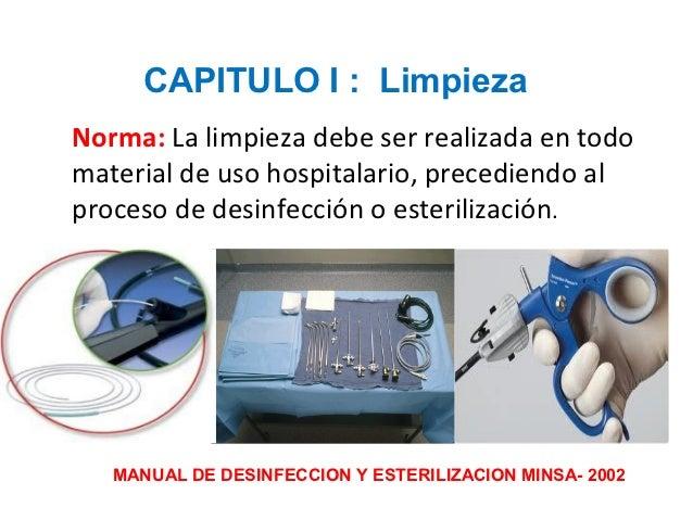 Limpeza y esterilizaci n del instrumental laparosc pico for Manual de limpieza y desinfeccion en restaurantes