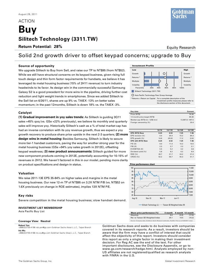 August 29, 2011ACTIONBuySilitech Technology (3311.TW)Return Potential: 28%                                                ...