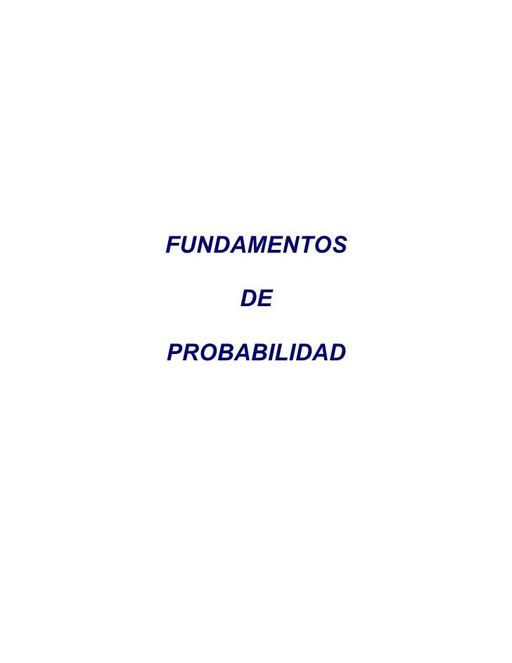 Probabilidad