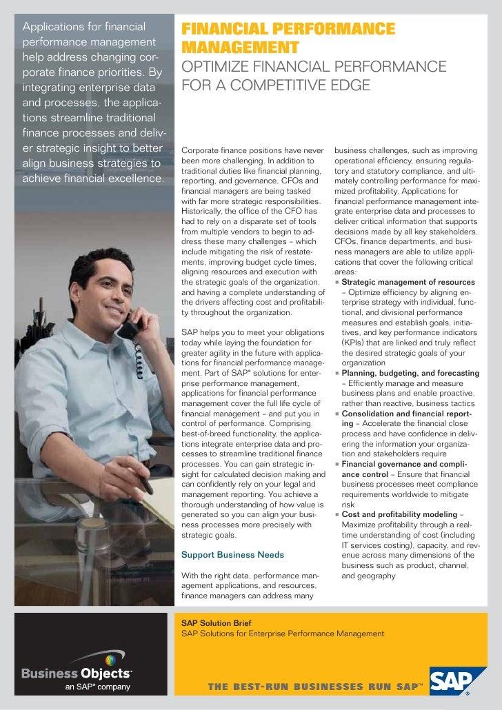 Enterprise Performance Management for Finance