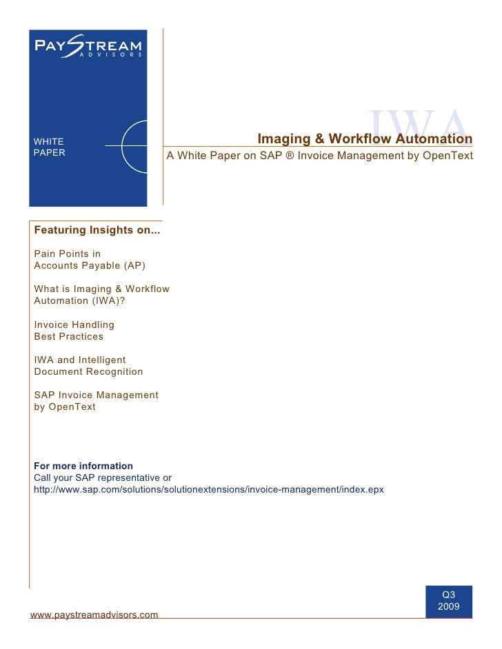 Imaging & Workflow Automation: A White Paper on SAP Invoice Management by OpenText
