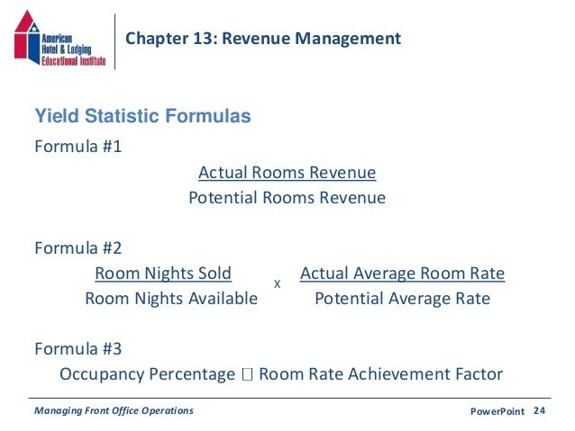 Chapter 13 Revenue Management