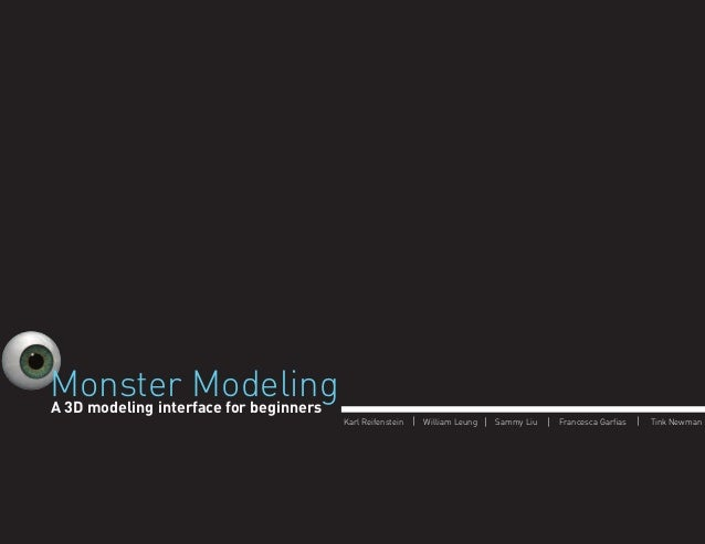 Monster Modeling - 3D Modeling for Kids