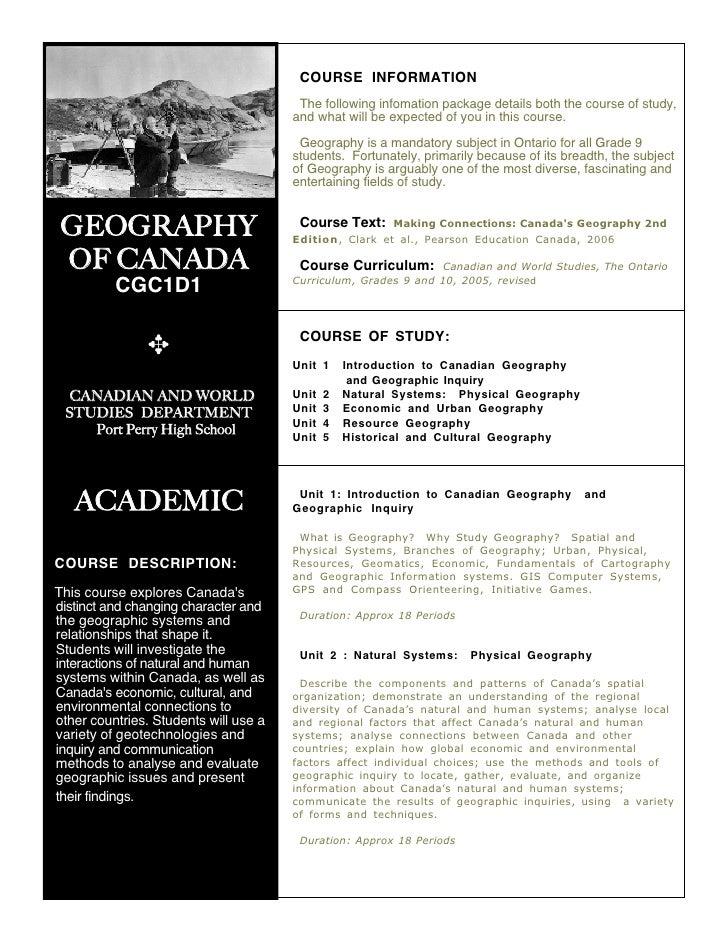 9.Geog.Acad.Outline.08 - Port Perry