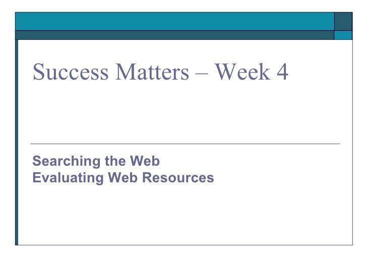EvaluatingWebResources