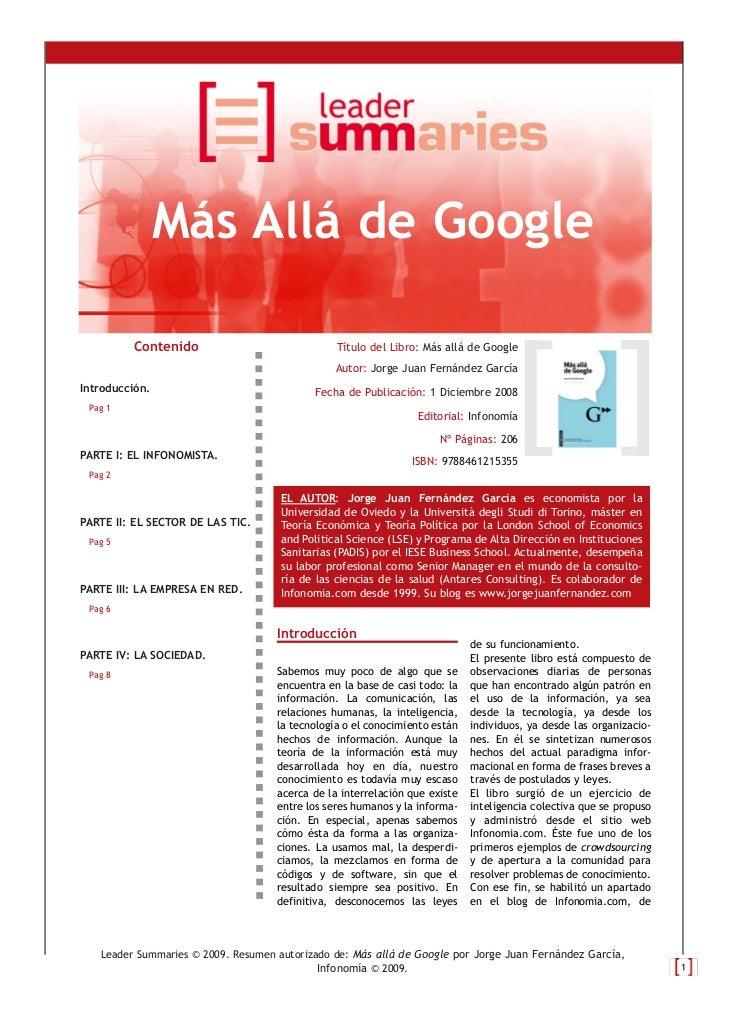 Más Allá de Google         Contenido                              Título del Libro: Más allá de Google                    ...