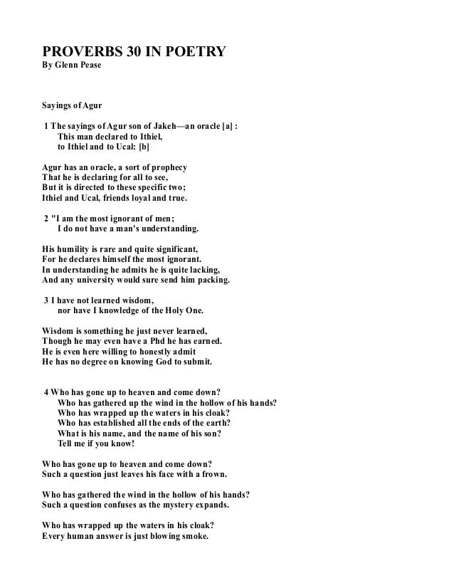 how to write a proverb poem