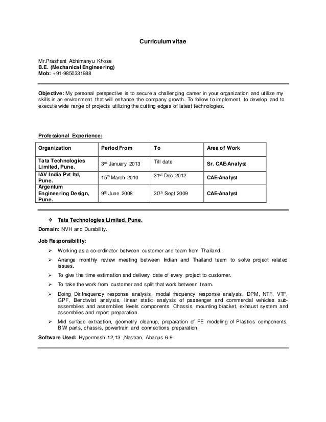 Personal Traits Resume