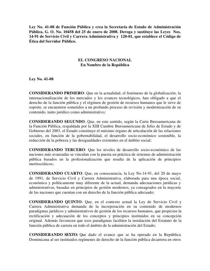Ley de función pública 41-08.PDF