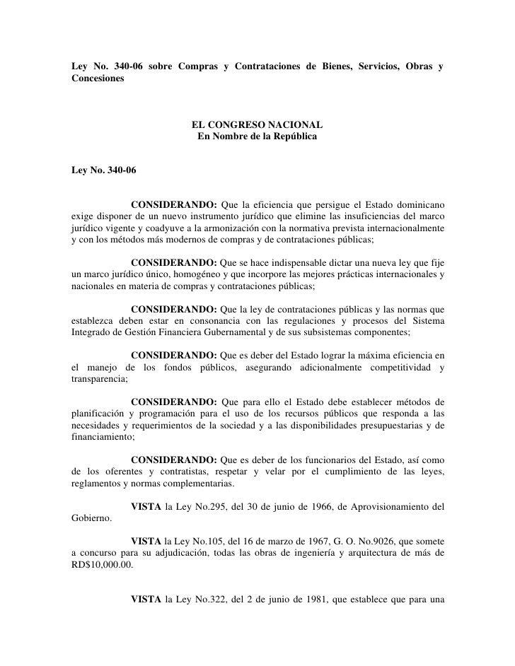 Ley sobre compras y contrataciones 340-06.PDF