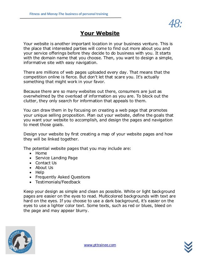 fitness business plan sample