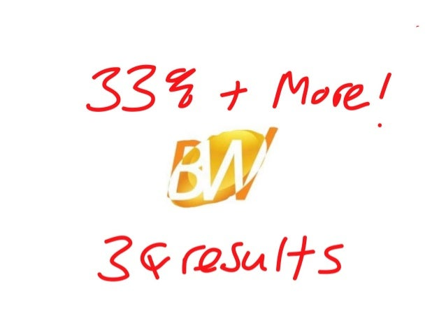 33% & more, 3 q 2012 results