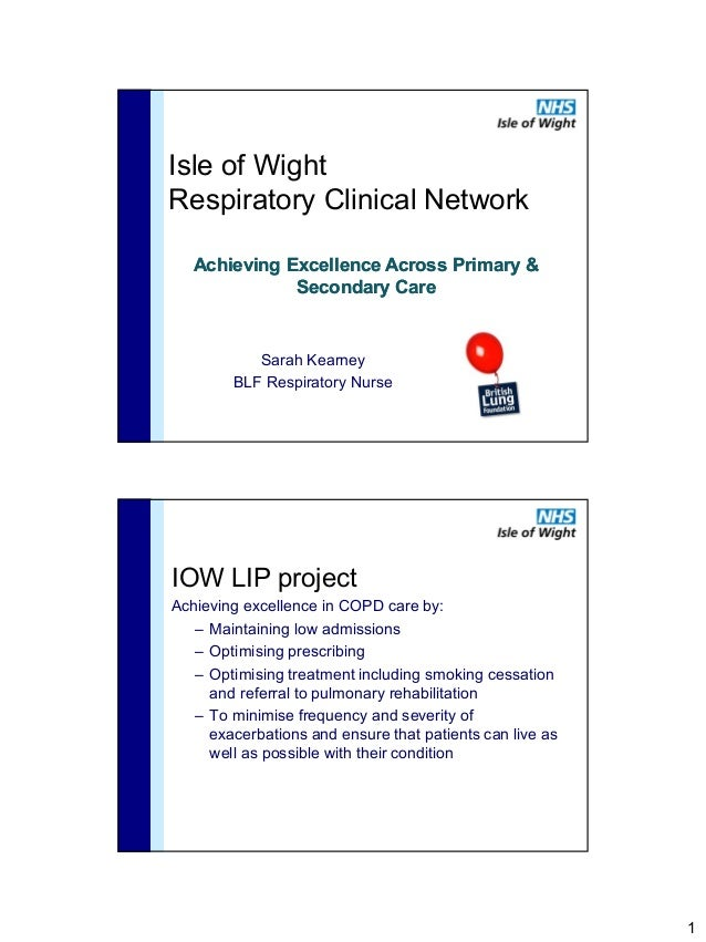 Isle of WightRespiratory Clinical Network   Achieving Excellence Across Primary &              Secondary Care           Sa...