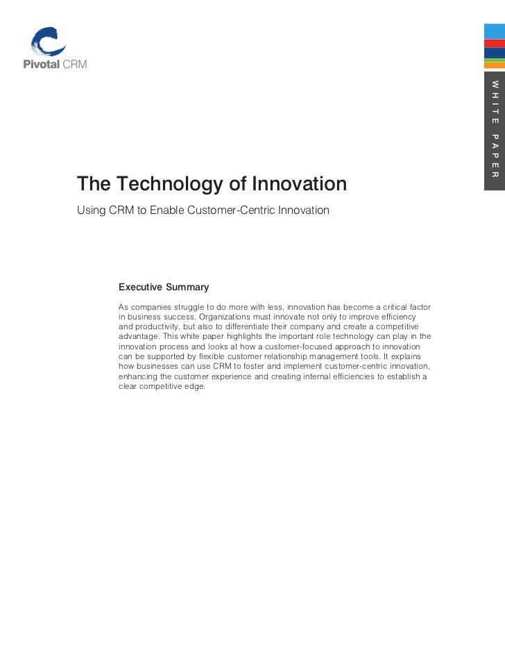Technology of innovation