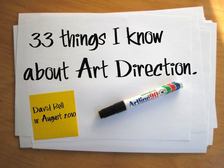 '33 things I know about Art Direction'