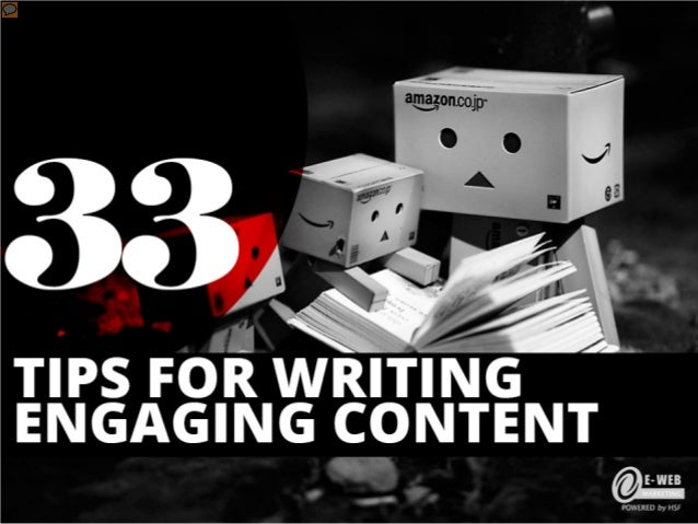 33 Tips for Writing Engaging Content