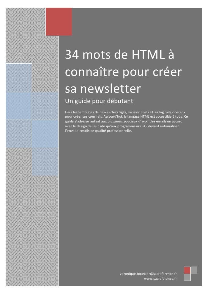 34 Mots de html pour créer sa Newsletter