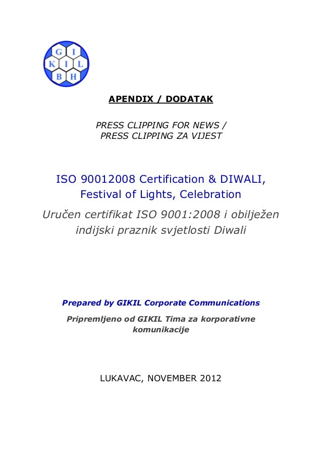 34. Press Clipping_ISO 9001:2008 Certification & Diwali, Festival of Lights Celebration